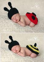 Boy baby bumble bees - Newborn Baby Crochet Hat amp Ladybug Tushy Topper Photography Prop Bumble Bee Tushy Topper set