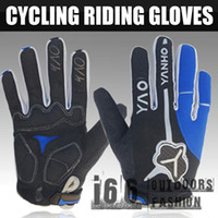 Wholesale Tactical YANHO outdoor Full fingers gloves Riding Cycling Racing Gloves BLUE TG