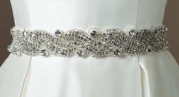 Wholesale Glamorous Dazzing Exqusite Crystals Beaded wedding dress belt bridal dress sashes wedding accessory