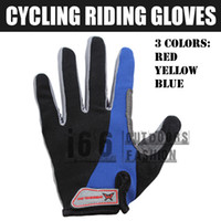 Wholesale outdoor Riding Cycling Full fingers gloves breathable windproof Tactical Gloves BLUE