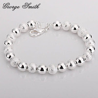 beaded bean bracelet - GSSPH084 silver MM wood beans bracelet fashion jewelry trendy chain Nickle free antialle