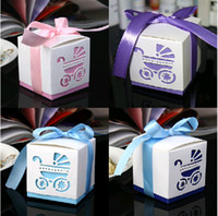 Favor Boxes Blue Paper Free Shipping Damask Wedding favor paper box favour gift candy boxes 3 Colors 100p