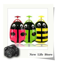 Wholesale school cuties kids travel rolling trolley luggage cartoon suitcase ladybug luggages