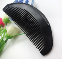 Wholesale Natural Small pocket size toothed comb for human hair care Simple BLACK HORN kelly NJ710150