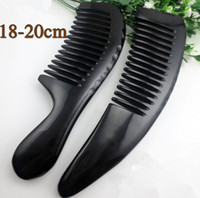 Wholesale Natural Small pocket size toothed comb for human hair care Simple BLACK HORN kelly NJ710271
