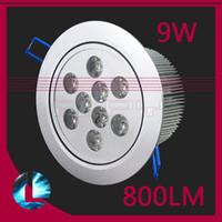 Wholesale 800LM W Led ceiling lamp High energy V Led ceiling light Recessed Ceiling Lighting Cabinet