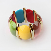 Wholesale Bohemian Style Colourful Bracelet Hot Sale Bracelet Resin Bracelet Mix Color