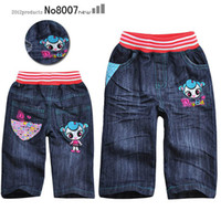 Wholesale cute children s jeans shorts for girl for summer and retail