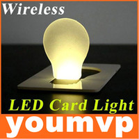 Wholesale Portable Led Pocket Light LED credit card lamp LED flashlights Novel business gift card