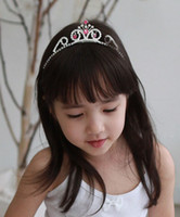 alloy alice band tiaras - South Korea style girl princess crown Tiaras hair combs kid bobby pin baby Alice band Free freight and retail