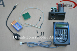 High quality 5Band Acoustic Guitar Equalizer EQ & Digital LCD Tuner With Microphone guitar pickups