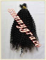 Wholesale best quality natural color Brazilian human virgin hair bulk tight curly g per piece hair extension sunnygrace