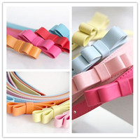 Wholesale Fashion Woman Lady Candy Color Bowknot Thin Skinny Waistband Butterfly Belt Leather Girdle Strap