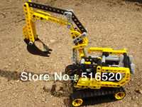 Wholesale Decool Excavator Exploiter series Building Block Educational Jigsaw Puzzle Enlighten toy