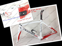Wholesale 2013 Asymmetrical Pinarello Dogma white Road Carbon Bicycle bike Frame seatpost headset Gifts