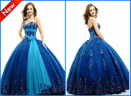 Wholesale Gorgeous Sweetheart Ball gown Applique Tulle Full length Quinceanera Dresses