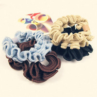 Wholesale High Elasticity Drawing Flowers Hairdressing Circle Hair Tie Accessories Hair Rubber Bands Rope