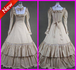 Wholesale Classic Long Sleeves Floor Length Gothic Victorian Dresses Lolita Cosplay Costumes