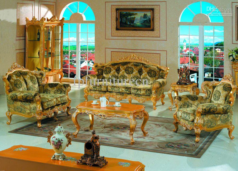 Furniture Baroque Style Living Room Sofa Set Antique Style Furniture