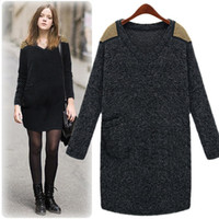 2012 New Women's dresses wool shoulder gold beads V- neck loo...
