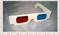 Wholesale GLL06 HOT Red Cyan paper D glasses for D movie D game D TV
