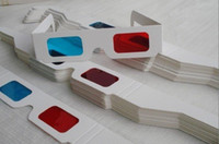 Wholesale Red Cyan paper D glasses hotselling GLL08