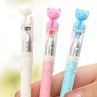 Wholesale 24pcs Cat gel pen creative gel pen Red bue black refill color amp good price amp Excellent quality