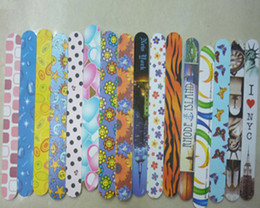 Wholesale Flower Printed Nail File double sides Use Manicure File Professional Nail Buffer Nail Art