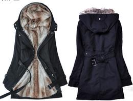 Wholesale new edition Fashion Women Winter Warm fur Coat Outerwear trench coats black