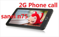 Wholesale 7 Sanei N75 Communication Android Tablet pc G Phone call bluetooth wifi camera MB GB