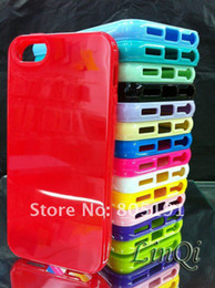 Wholesale New arrival TPU rubber material For iphone case solid color gloss surface matt inside
