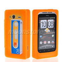 For HTC audio tape cases - AUDIO TAPE SOFT GEL TPU SILICONE CASE COVER FOR HTC WILDFIRE S G13