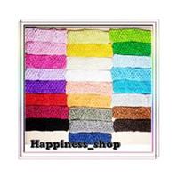Flower crochet tutu tops - 50pcs quot Newborn Infant baby girl Top TuTu crochet headband Hair Bow colors
