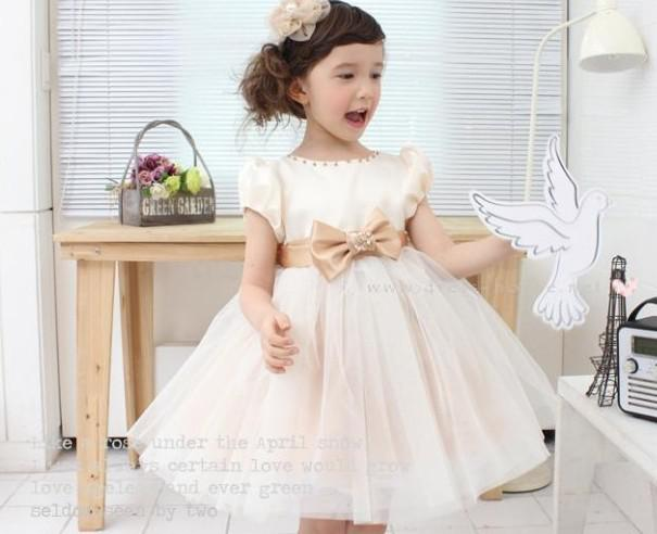Summer Baby Dress Cream