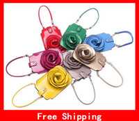 Wholesale Creative Rose Floral Mobile Shoulder Bags Beautiful Handbag Rose Flower Cosmetic Purse