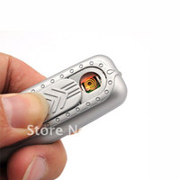 Wholesale GLL71 Electronic Rechargeable USB Power Flameless Cigarette Lighter Mini Green Windproof