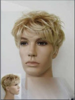 Wholesale Most Stylish Man Hairstyle Short Straight Blonde wig
