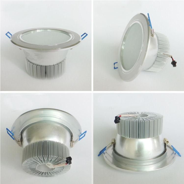 X20 Fedex 7w Frosted Glass Antifog Bathroom Led Recessed Ceiling Down Light Fixture Lamp 750