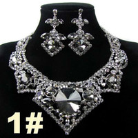Wholesale 1pc Retail Wedding Bridal Bridesmaid Party Earring Necklace Jewelry Set WA76