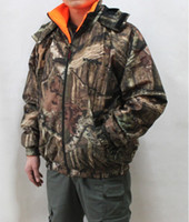 Wholesale 2013 New Realtree Camouflage Hunting Jacket Double Side wear reversible padded jacket Camo Clothes