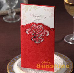 Wholesale wedding invitation wedding cards CW2007 customised printing come with envelope