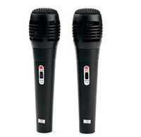 Wholesale Pair of Karaoke USB Microphones for Wii PS3 Xbox and PC Retail Box Black