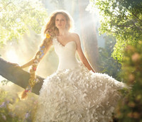 Wholesale 2012 Hot Sale One Shoulder Ivory A Line Ruffle Sweep Brush Bridal Gowns Wedding Dresses W5654