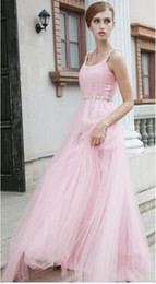 Wholesale Stunning Spaghetti Straps Tulle Prom dresses Evening dresses Party dresses Crystals Beading Cheap