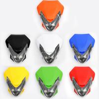 achat en gros de phare moto rue universel combattant-Livraison gratuite Marque New Street Fighter Bike Moto Universal Dirt Bike LED Vision Headlight # 06