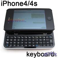 Wholesale Fashionable Buletooth keyboard with case for iphone S G KRSK02 Free DHL WEIL
