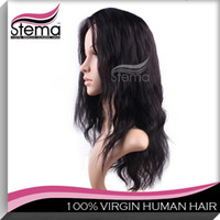 Wholesale Hair Wigs Virgin Brazilian Human Hair Full Front Wigs Natural Body Wave A Grade piece quot quot Fast Shipping Glueless Lace Wigs