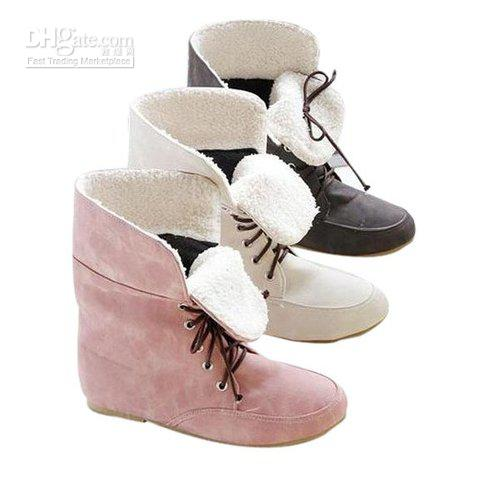 2013 New Fashion Winter Boots For Women Reflexed Two Wear Lace