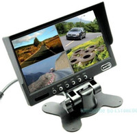 Wholesale 7 quot TFT LCD Car Rearview Quad Split Monitor Remote Control CH Video Inputs