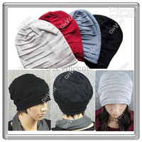 Wholesale S5Q Fashion Hip Hop Men s Knit Beanie Slouch Loose Baggy Style Ski Snowboard Hat cap